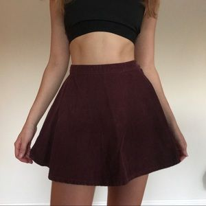 Deep Red Skirt